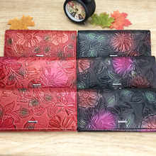 Luxury Floral Patterned Genuine Leather Women's Wallet
