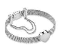 New Year 925 Sterling Silver Bead Charm Reflexions Safety Chain Clip Stopper Beads Pandora Bracelet Bangle Diy Jewelry