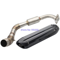 Motorcycle for Yamaha NVX 155 125 AEROX155 NVX155 Exhaust System Modified Fornt Connection Link Pipe Hearders with Muffler