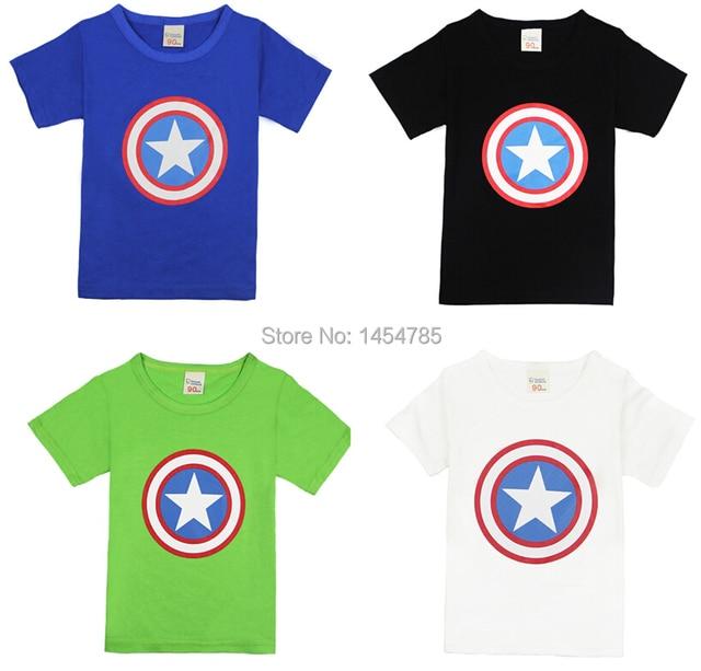 Capitán américa 2016 ropa niños niños niñas camiseta 5 colores ...