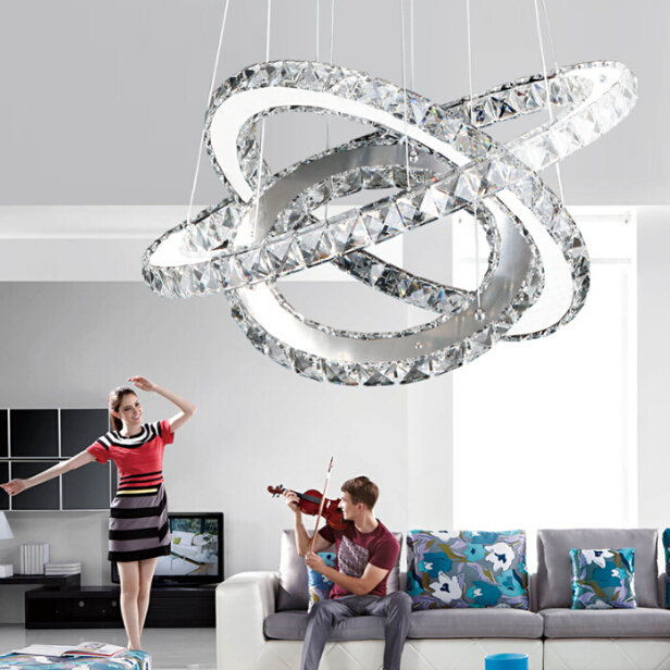 Modern Chrome Chandelier Crystals Diamond Ring Led Lamp: Aliexpress.com : Buy Modern Chrome Chandelier Crystals