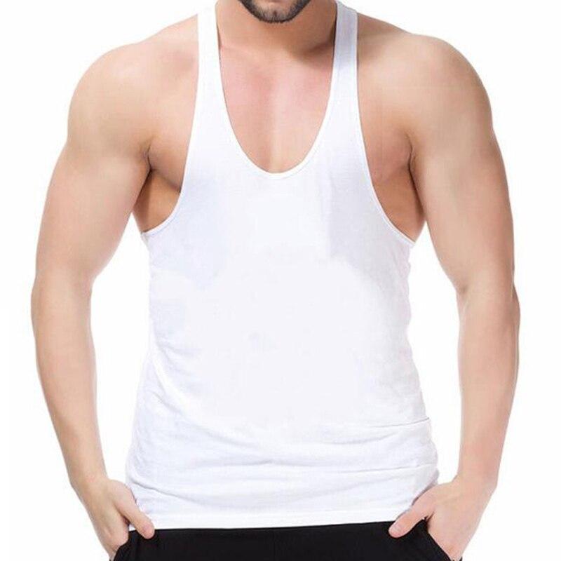 MUSCLE vifs débardeurs de sport hommes musculation Fitness entraînement pour hommes plaine gilets sans manches coton 2 cm bande Y dos o-cou 3 pièces