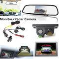 """A Visão noturna Câmera CCD Do Reverso Do Carro Radar & 4.3 """"HD Espelho Retrovisor Monitor de LCD"""