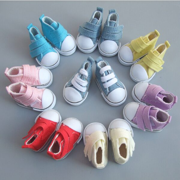 5cm Canvas Shoes For BJD Doll Fashion Mini Shoes Doll Shoes for Russian DIY handmade doll Doll Accessories