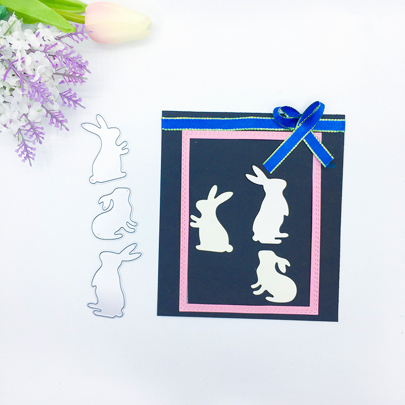 Julyarts 3PCS Animal 2019 New Rabbit Metal Cutting Dies For Diy Stamp Scrapbooking Die Stencils Card Crafts