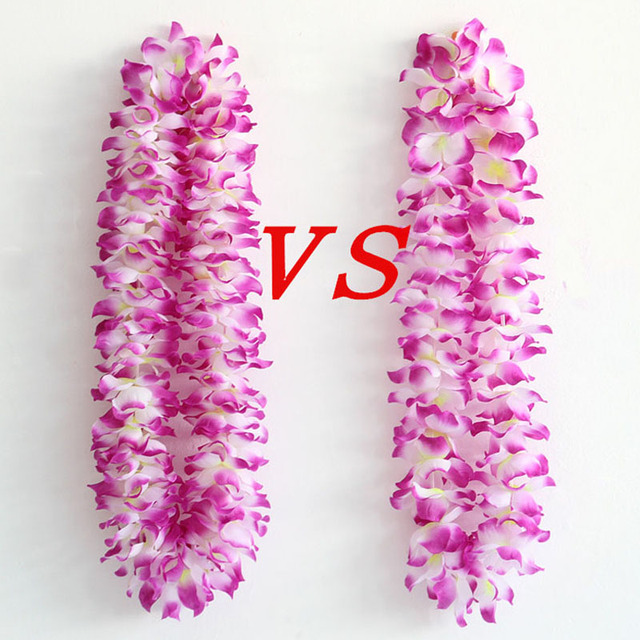 lei tropical necklace beach costume fancy theme leis decoration luau pcs dress flower product hawaiian party multicolor garland