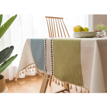 Cotton Linen Tablecloth Minimalist Pattern Rectangle for Kitchen Living Room Decorations Hot Sale