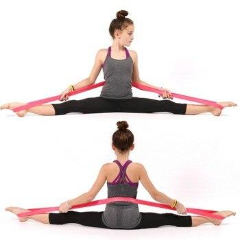 Elastis Anak Balet Lembut Buka Kaki Stretch Tari Balet Band Senam Yoga Latihan Tari Balet ResistanceDT015