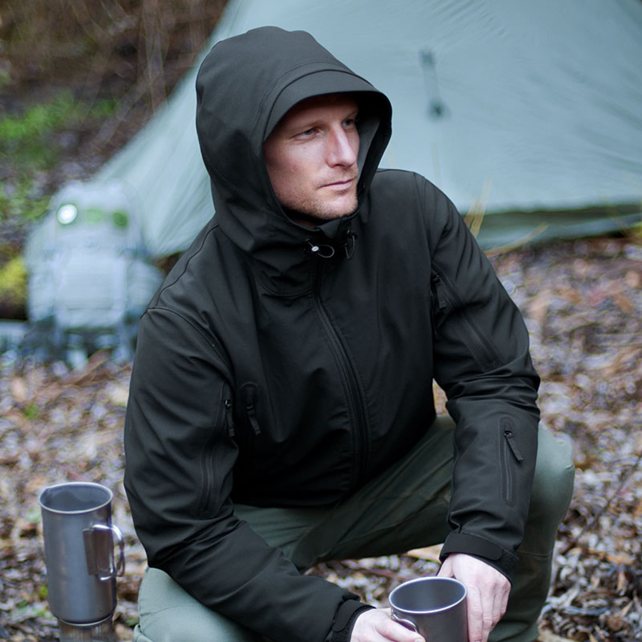 Tactique V4.0 hommes Multicam Sharkskin Softshell militaire Camo imperméable veste à capuche chaude