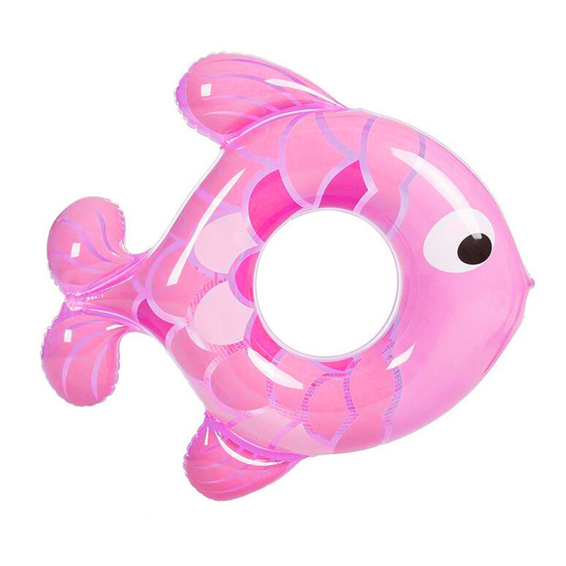 Baby Swimming Ring Inflatable Lap Swimming Pool Baby Swim Float Rubber Ring Fish Kids Shape Swim Ring Safety Child Toy 1-5years