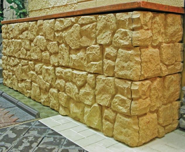 Wall artificial stone maker for garden yard decoration DIY concrete ...