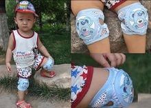 Adjustable size Summer Children Breathable Mesh Cotton Kneepads  For Children Crawling Dance Movement Toddlers