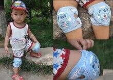 Adjustable measurement Summer Children Breathable Mesh Cotton Kneepads For Children Crawling Dance Movement Toddlers