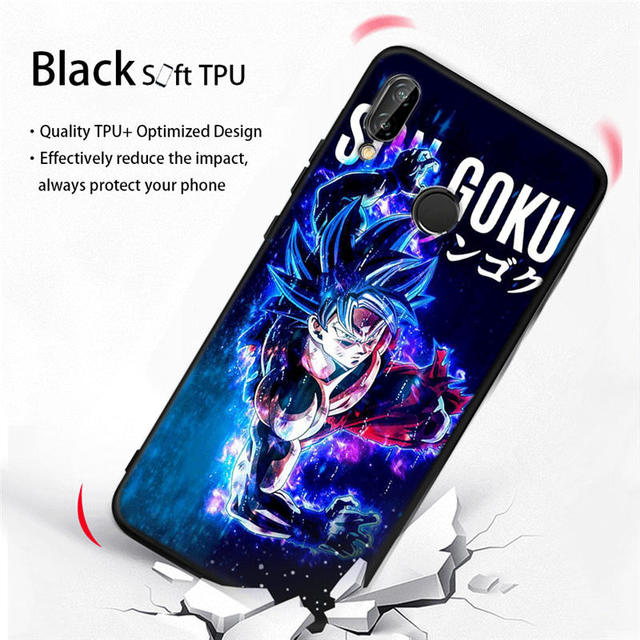 Dragon Ball Z Goku Soft Silicone Case Cover For Huawei Models