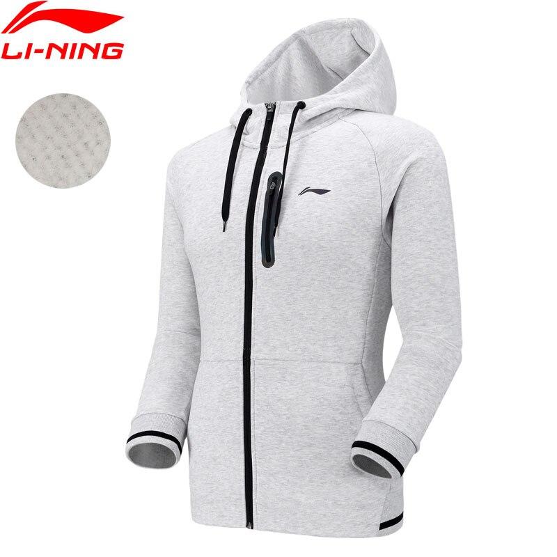 (Break Code)Li-Ning Men Badminton Hoodie Regular Fit Fleece 65%Cotton 35%Polyester LiNing Li Ning Sport Jackets AWDN945 MWW1522