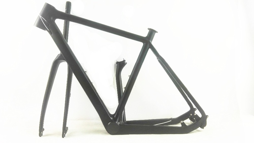 Free Shipping Carbon Cyclocross Frame T800 Disc-brake Carbon CX Frameset Di2 Compatible Carbon Cyclocross Bike Frame Fork