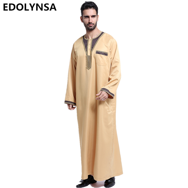 2019 Muslim Men S Clothing Accessories Fashion Men Robes Kaftan