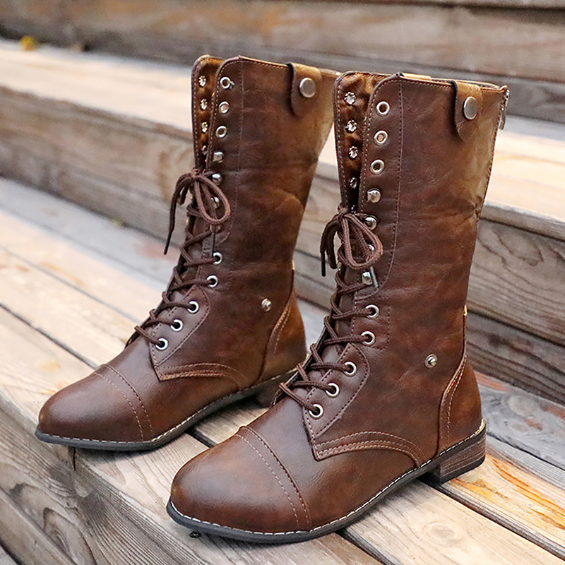 Winter Shoes Mid-Calf-Boots Non-Slip-Botas Warm Waterproof Women Sewing For Mujer Invierno