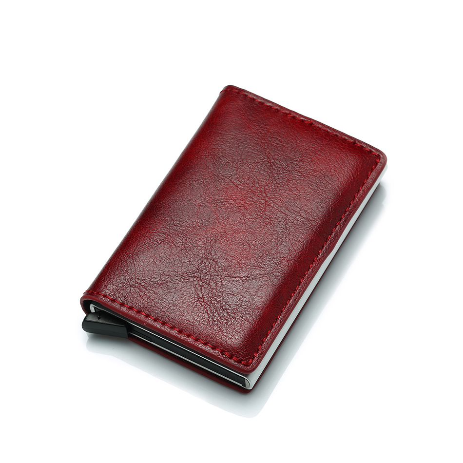 Mens Small Slim Leather Wallets Rfid Card Holder 42