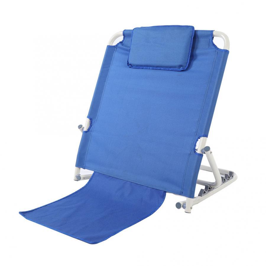 Portatile Pieghevole Regolabile In Acciaio Inox Disabilità Schienale Letto Supporto di Viaggio Spiaggia Salotto Anziani Schienale