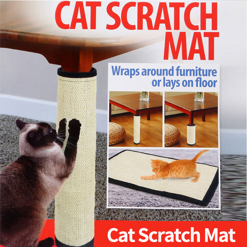 Pet Cat Kitten Scratcher Scratching Pad Corner Floor Wall Sisal Board Mat 45cm 30cm