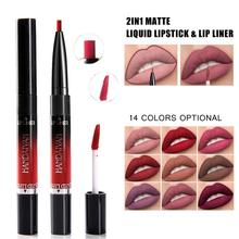 2 in 1 Makeup Dual Use Matte Lipstick Waterproof Double end Nude Liquid Velvet Matte non-stick cup Lip Gloss Lipliner Pen yes yes close to the edge 180 gr