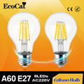 LED Edison COB bulb Ac220v 240v A60 E27 Vintage Filament Decor Lamps Warm White 2w 4w 6w 8w Led Specialty Decorative Light Bulbs