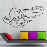 Wall Sticker Vinyl Decal Hot Sexy Girl Nude Massage Spa Relax Health