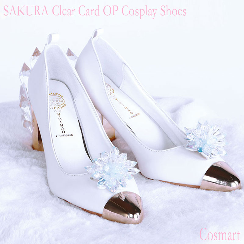 2018new anime cardcaptor sakura shoes op card crystal battle shoes halloween cosplay shoes for women free