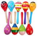 Colorido De Madeira Maracas Bebê Criança Instrumento Musical Rattle Shaker Partido Crianças Toy Presente frete grátis