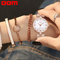 DOM Women's Fashion Mesh steel belt Watches Womens Females Antique Geneva Quartz-watch Ladies Brands Wristwatch G-1065