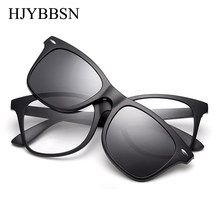 Hjybbsn homens óculos de moda miopia óptica computador quadro design da marca simples óculos de olho retro grau feminino