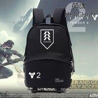 Yeni video oyunu Tv oyun kavramı sırt DESTINY 2 takım logo baskı sırt çantası TITAN HUNTER Destiny WARLOCK sırt NB180