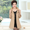 XL to 4XL slim waist solid color women's sashes Trench 2017 Fashion Turtleneck plus size ladies long coat in winter