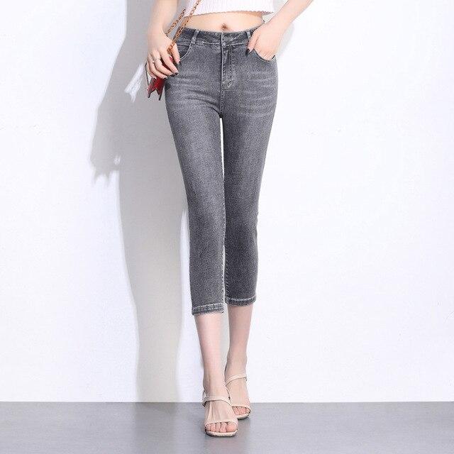 סקיני ג 'ינס אישה אמא ripped גבוהה מותניים ג' ינס החבר femme vadim בתוספת גודל M-9XL לדחוף למעלה ג 'ינס מכנסיים מכנסיים vaqueros mujer