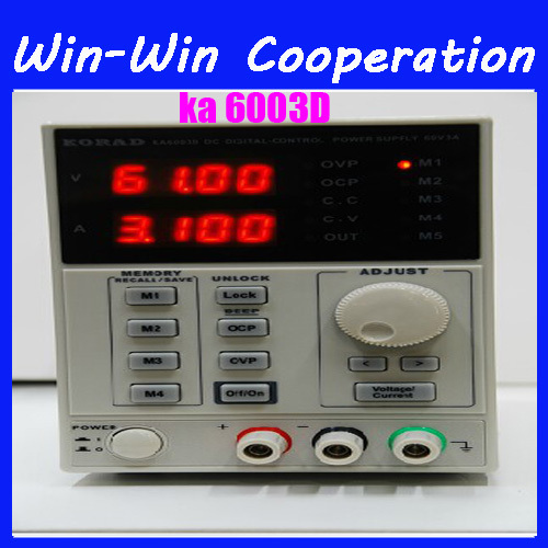 цена на KORAD KA6003D High Precision The Lab programmable Adjustable Digital Regulated power supply DC Power Supply 60V/3A mA 4Ps