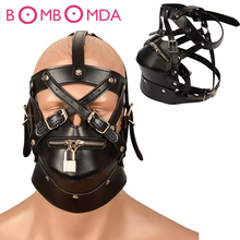 Bdsm Bondage Hoods Zipper Head Sexy Mask Adult Games Male Leather Sex Mask Fetish Restraint Erotic Toys Sex Toys For Couples O3