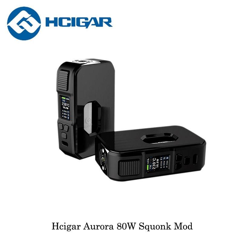 Originale HCigar Aurora 80 w Squonk Scatola Mod TC Mod Box Alimentato Da 18650/20700/21700 Batteria elettronica sigaretta vape Vaporizzatore