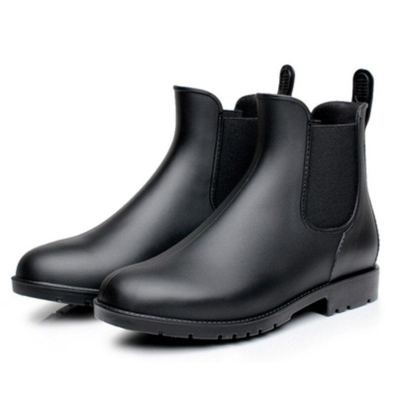 2018 Chelsea stiefel männer regen stiefel niedrigen bot warme stiefel männlichen niedrigen bot wasser schuhe männer slip bot galoschen angeln stiefel