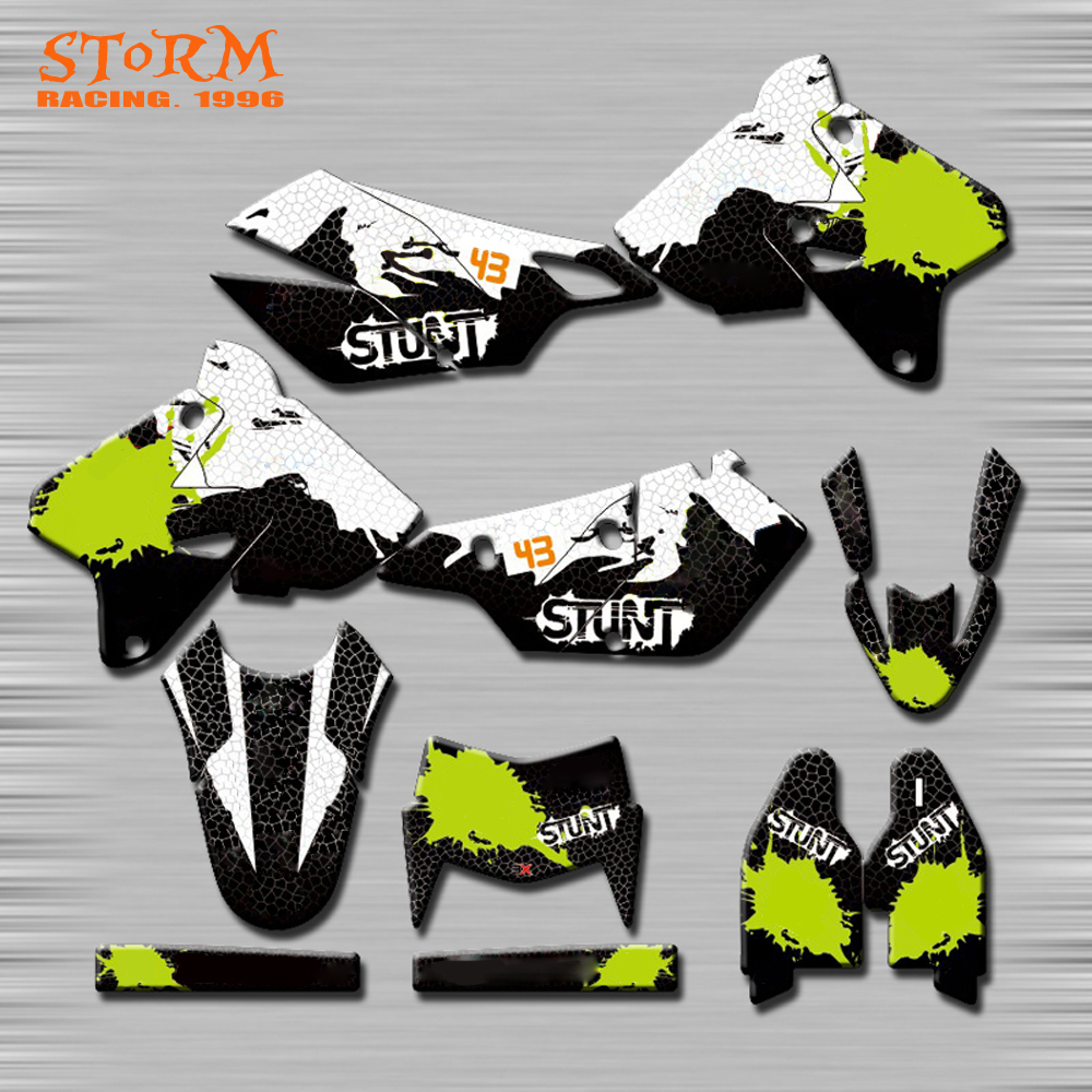 Decals Graphics With Matching Backgounds Customize Stickers Kits For SUZUKI DRZ400SM RM125 RM250 RMZ250 RMZ450 RMX DR DRZ cnc front brake line hose clamps holder for suzuki rm85 rm125 rm250 rmz250 rmz450 rmx450z drz400sm motorcycle