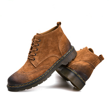 Mens Genuine Boots Lace Up Shoes