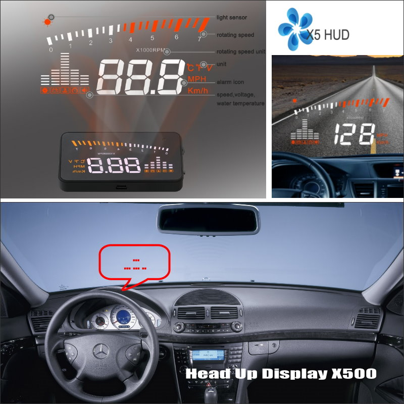 For Mercedes Benz E MB W210 W211 W212 W213 W214 C207 Safe Driving Screen Car HUD Head Up Display Projector Refkecting Windshield bigbigroad for mercedes benz cla s class c117 w117 w210 w211 w222 c207 a170 car hud obdii windscreen projector head up display