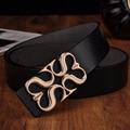 Chegadas hot liga mulher fivela cintos de couro genuíno para adultos acessórios de vestuário das mulheres marca de luxo para Cowskin largura 3.3 cm