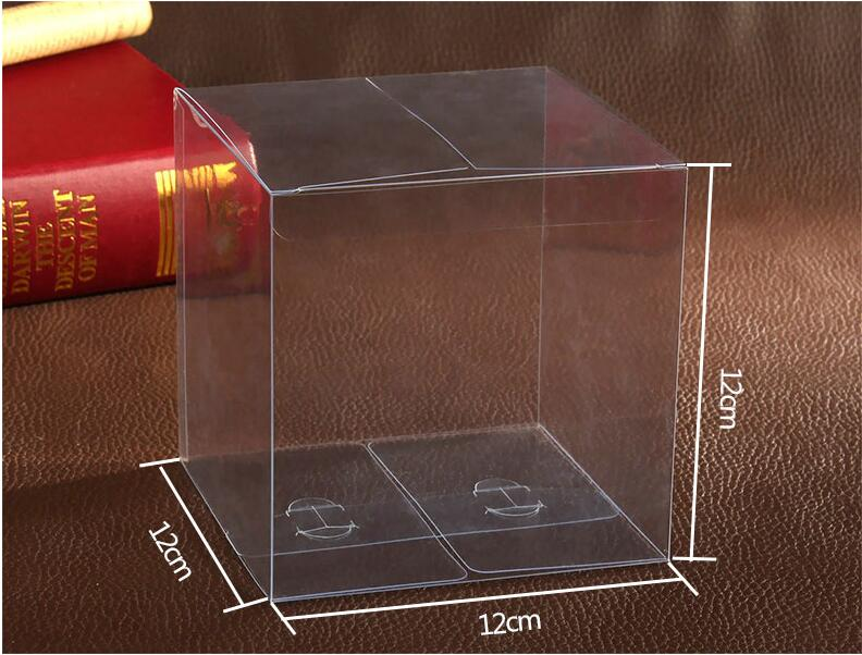 30pcs 12 12 12cm Clear Plastic Pvc Boxes Packaging For