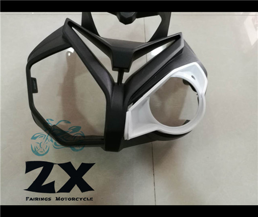Motorcycle For Unpainted White  Upper Front Head Fairing Cowl Nose Cowl for  S1000R S1000r 2014-2016 Fairing ZXMT ready for fce upper intermediate teacher s book