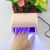 US Professional 30s 60s 90s Timer Gel Nail Polish Dryer 9W LED UV Nail Lamp Polish