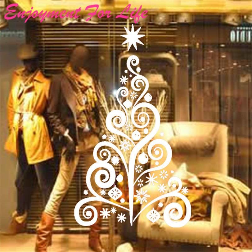 Enjoyment For Life New Fashionable Trend 1PCS Christmas Tree Wall Sticker Removable Mural Window Decor PVC Vinyl Art Home Nov 2