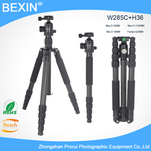professional Photographic Portable Carbon fiber Travel Tripod With Ball head height 174cm For Digital DSLR Camera