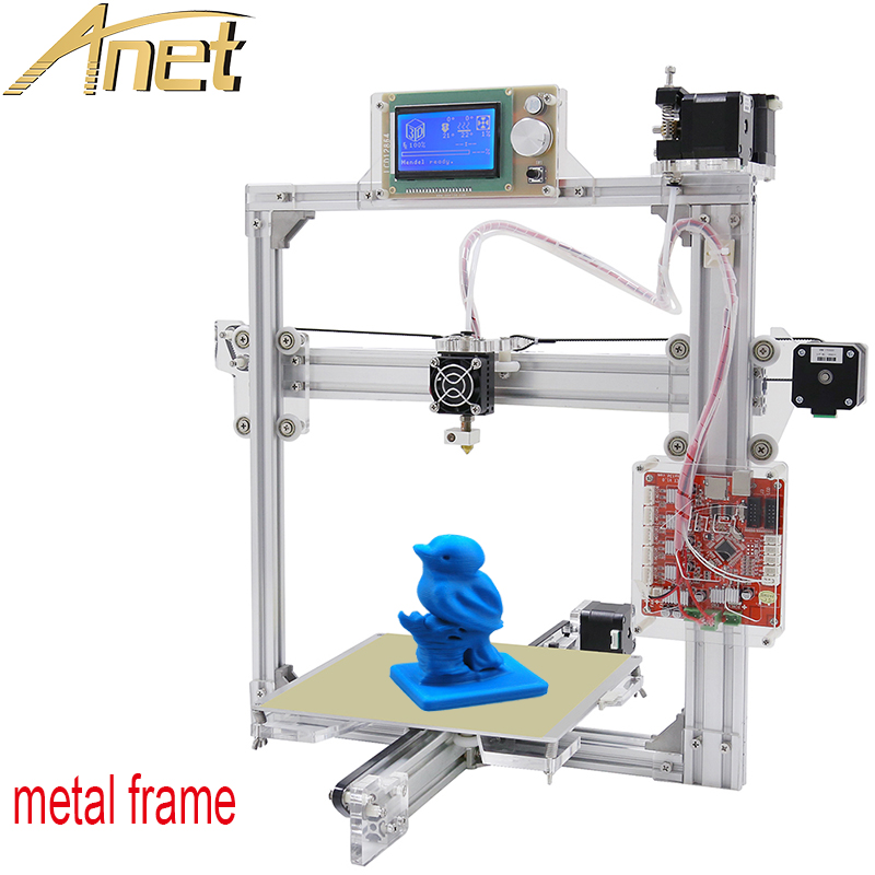 Auto leveling Optional,Full Metal Frame Anet A2 3D Printer Kit DIY Easy Assemble With Free 1roll Filaments 8GB SD card LCD