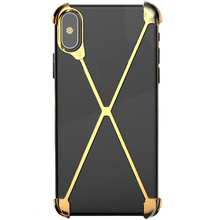 купить Metal Bumper Case for iPhone XS , Slim Heavy Duty Armor Shockproof Aluminum Alloy X-Frame Phone Bumpers Protective Shell по цене 1432.24 рублей